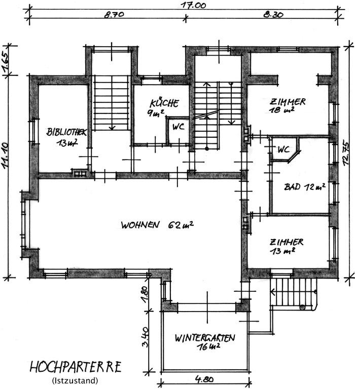 Grundriss villa  Zum Verkauf: Villa Romenthal - Grundrisse